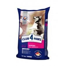 Клуб 4 Лапы сухой корм для щенков всех пород с курицей 14 кг