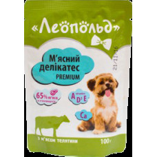 Леопольд, мясной деликатес с телятиной для собак 0,01 кг.