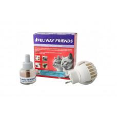 Диффузор Ceva Feliway Friends + сменный блок для снятия стресса и коррекции поведения у кошек, 48 мл