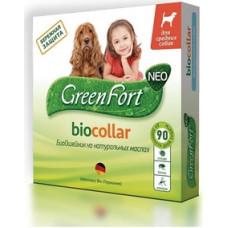 Green Fort neo БиоОшейник от блох и клещей для собак средних пород 65 см.