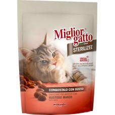Migliorgatto Sterilized сухой корм для кошек крокеты с говядиной 0,4 кг
