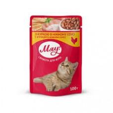 Мяу! Консервы для котов с курицей 0,1 кг