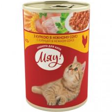 Мяу! консервы для котов с курицей 0,415 кг