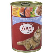Мяу! консервы для котов с рыбой 0,415 кг