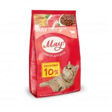 Мяу! сухой корм для котов с мясом 0,9 кг