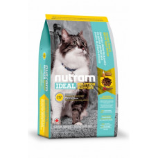 Nutram Ideal Solution Support Indoor Cat корм для привередливых, домашних котов с курицей и яйцами 6,8 кг.