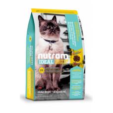 Nutram Ideal Solution Support Skin Coat Stomach корм для чувствительных кошек с курицей и лососем 5,4 кг.