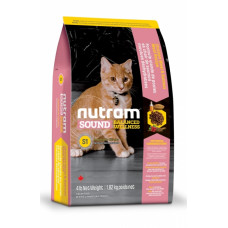 Nutram Sound Balanced Wellness Kitten сухой корм для котят с курицей и лососем 5,4 кг.