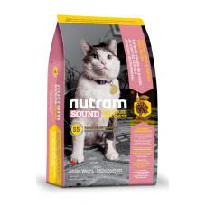 Nutram Sound Balanced Wellness Adult Urinary Cat сухой корм для взрослых котов с курицей и лососем 5,4 кг.