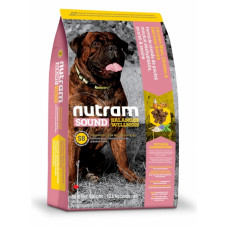 Nutram Sound Balanced Wellness Large Breed Adult Dog корм для собак крупных пород с курицей и овсянкой 11,4 кг
