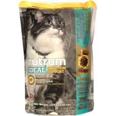 Nutram Ideal Solution Support Indoor Cat корм для привередливых, домашних котов с курицей и яйцами 0,32 кг.