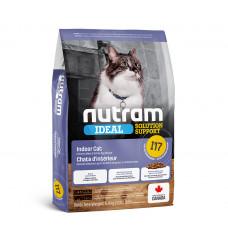 Nutram Ideal Solution Support Indoor Cat корм для привередливых, домашних котов с курицей и яйцами 1,13 кг.