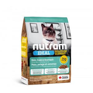 Nutram Ideal Solution Support Skin Coat Stomach корм для чувствительных кошек с курицей и лососем 1,13 кг.
