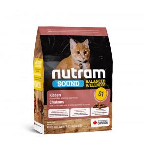 Nutram Sound Balanced Wellness Kitten сухой корм для котят с курицей и лососем 0,32 кг.