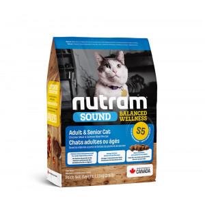 Nutram Sound Balanced Wellness Adult Urinary Cat сухой корм для взрослых котов с курицей и лососем 1,13 кг.