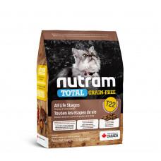 Nutram TOTAL GF Turkey & Chiken Cat беззерновой корм для кошек с курицей и индейкой 0,32 кг.