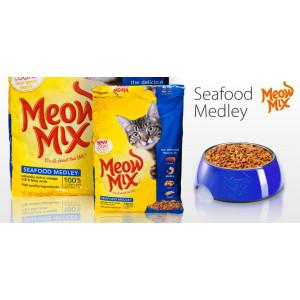 Meow Mix SeaFood сухой корм для кошек моррской коктейль 0,175 кг