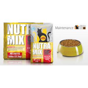 Nutra Mix Maintenance сухой корм для кошек куриное мясо, рис и кукуруза 22,7 кг