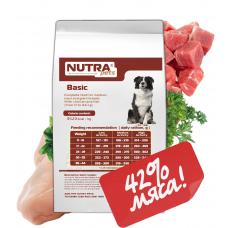 NUTRA pets Regular BASIC сухой корм для взрослых собак средних и крупных пород 10 кг + Подарок!