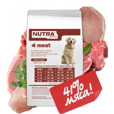 NUTRA pets Regular 4 meat сухой корм для взрослых собак средних и крупных пород 10 кг + Подарок!