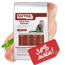 NUTRA pets Feline Adult Сhicken сухой корм для взрослых котов с курицей 2 кг