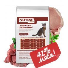 NUTRA pets Feline Adult Double Beef сухой корм для взрослых котов с говядиной 10 кг + Подарок!