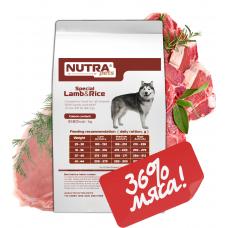 NUTRA pets Special Lamb&Rice сухой корм для взрослых собак средних и крупных пород  15 кг + Подарок!