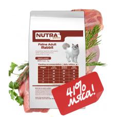 NUTRA pets Feline Adult Rabbit сухой корм для взрослых котов с кроликом 5 кг +Подарок!