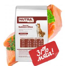 NUTRA pets Special Salmon&Rice сухой корм для взрослых собак средних и крупных пород  2,5 кг