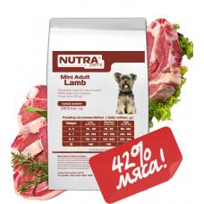 NUTRA pets Regular Mini Adult Lamb сухий корм для дорослих собак малих порід з ягням 1,5 кг