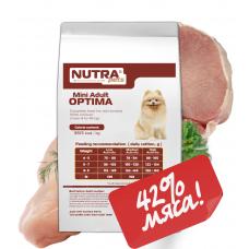 NUTRA pets Regular Mini Adult OPTIMA сухой корм для взрослых собак малых пород 1,5 кг