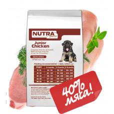 NUTRA pets Regular Junior Chicken сухой корм для щенков 10 кг + Подарок!