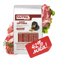NUTRA pets Regular Junior OPTIMA сухий корм для цуценят 10 кг + Подарунок!