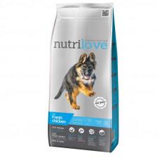 Nutrilove Junior Large сухой корм для щенков крупных пород с курицей и рисом 12 кг