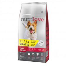 Nutrilove Adult Small сухой корм для взрослых собак мелких пород с курицей и рисом 1,6 кг