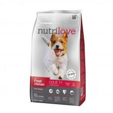 Nutrilove Adult Small сухой корм для взрослых собак мелких пород с курицей и рисом 8 кг