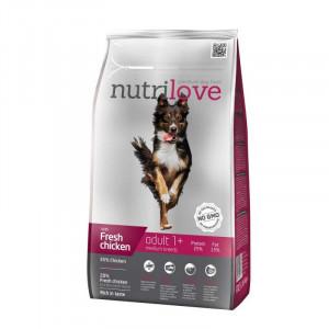 Nutrilove Adult Medium сухой корм для взрослых собак средних пород с курицей и рисом 8 кг