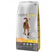Nutrilove Active сухой корм для взрослых активных собак всех пород с курицей и рисом 12 кг