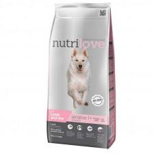 Nutrilove Sensitive сухой корм для взрослых собак с чувствительным пищеваением с ягненком и рисом 12 кг