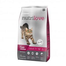 Nutrilove Adult сухой корм для взрослых котов с курицей и рисом 1,5 кг