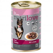 Nutrilove Veal and Turkey консервы для собак кусочки телятины и индейки в соусе 0,415 кг