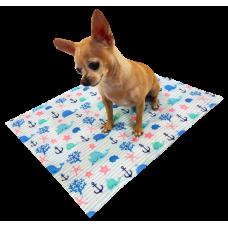 Охолоджуючий килимок Croci для собак, (принт морський Кит) 50х40см