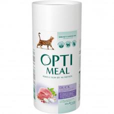 Optimeal беззерновой сухой корм для котов - утка и овощи 0,65 кг