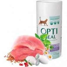 Optimeal беззерновой сухой корм для котов - утка и овощи 4 кг