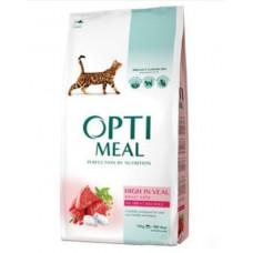 Optimeal сухой корм для котов с большим содержанием телятины 0,2 кг