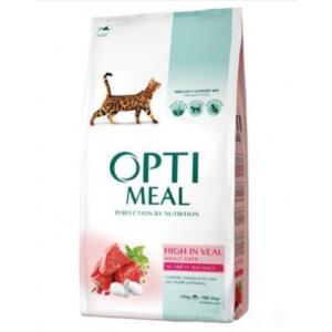 Optimeal сухой корм для котов с большим содержанием телятины 10 кг