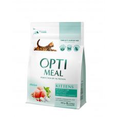 Optimeal сухой корм для котов с курицей 0,3 кг