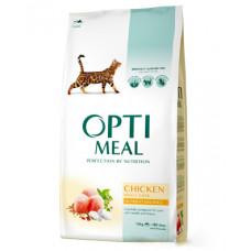 Optimeal сухой корм для котов с курицей 10 кг