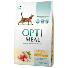 Optimeal сухой корм для котов с курицей 4 кг