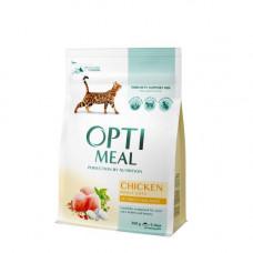 Optimeal сухой корм для котов с курицей 0,2 кг